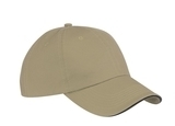 Washed Twill Sandwich Cap Khaki with Black Thumbnail
