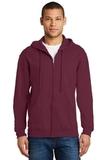 Full-zip Hooded Sweatshirt Maroon Thumbnail
