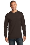 Essential Long Sleeve T-shirt Dark Chocolate Brown Thumbnail