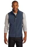 Port Authority R-tek Pro Fleece Full-zip Vest Navy Heather with Black Thumbnail