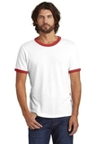 Alternative The Keeper Vintage 50/50 Ringer Tee White with Red Thumbnail