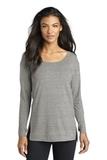 Women's OGIO Luuma Long Sleeve Tunic Petrol Grey Heather Thumbnail