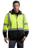 Ansi Class 3 Safety Windbreaker Safety Yellow with Black Thumbnail