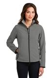 Women's Glacier Soft Shell Jacket Smoke Grey with Chrome Thumbnail