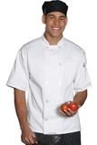 10 Pearl Button Short Sleeve Chef Coat White Thumbnail