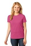 Women's 5.4-oz 100 Cotton T-shirt Sangria Thumbnail