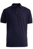 Men's Short Sleeve Soft Touch Blended Pique Polo Navy Thumbnail