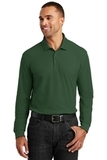 Long Sleeve Core Classic Pique Polo Deep Forest Green Thumbnail
