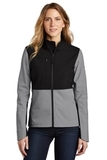 Ladies Castle Rock Soft Shell Jacket Mid Grey Thumbnail