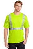 Ansi Compliant Safety T-shirt With Pocket Safety Yellow with Reflective Thumbnail