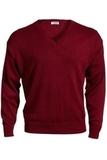 Men's 100 Acrylic V-neck Sweater Burgundy Thumbnail