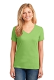 Women's 5.4-oz 100 Cotton V-neck T-shirt Lime Thumbnail