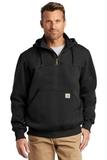 Carhartt Rain Defender Paxton Heavyweight Hooded Zip Mock Sweatshirt Black Thumbnail