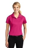 Women's Micropique Moisture Wicking Polo Shirt Pink Raspberry Thumbnail