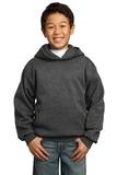 Youth Pullover Hooded Sweatshirt Dark Heather Grey Thumbnail