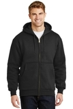 Heavyweight Full-zip Hooded Sweatshirt With Thermal Lining Black Thumbnail