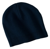 100 Cotton Beanie Navy Thumbnail