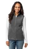 Women's Eddie Bauer Fleece Vest Grey Steel Thumbnail
