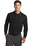 Port Authority Dimension Knit Dress Shirt Black Thumbnail