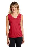 Women's Sleeveless Competitor V-neck Tee True Red Thumbnail