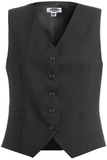 Women's Poly / Wool High Button Vest Black Thumbnail
