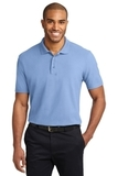 Stain-resistant Polo Shirt Light Blue Thumbnail