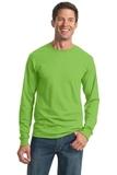 Moisture Management 50/50 Cotton / Poly Long Sleeve T-shirt Kiwi Thumbnail