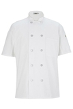 Ten Button Chef Coat With Back Mesh White Thumbnail