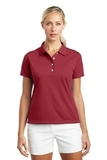 Women's Nike Golf Shirt Tech Basic Dri-FIT Polo Pro Red Thumbnail