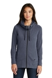 Women's New Era TriBlend Fleece FullZip Hoodie True Navy Heather Thumbnail