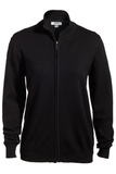 Women's Full Zip Cardigan Black Thumbnail