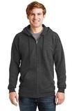 Ultimate Cotton Full-zip Hooded Sweatshirt Charcoal Heather Thumbnail