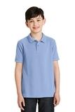 Youth Silk Touch Polo Shirt Light Blue Thumbnail