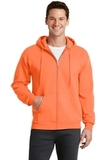 7.8-oz Full-zip Hooded Sweatshirt Neon Orange Thumbnail