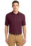 Extended Size Silk Touch Polo Shirt Burgundy Thumbnail