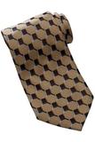Men's Silk Honeycomb Tie Gold Thumbnail