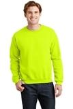 Heavy Blend Crewneck Sweatshirt Safety Green Thumbnail