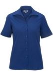 Women's Easy Care Poplin Shirt SS Royal Thumbnail