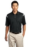 Nike Golf Dri-FIT Shoulder Stripe Polo Shirt Black with White Thumbnail