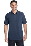 Port Authority Digi Heather Performance Polo Dress Blue Navy Thumbnail