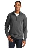 New Era Tri-Blend Fleece 1/4-Zip Pullover Black Heather Thumbnail