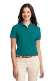 Women's Silk Touch Polo Shirt Teal Green Thumbnail