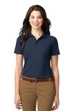 Women's Stain-resistant Polo Shirt Navy Thumbnail