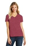 Women's Made Perfect Blend V-Neck Tee Heathered Red Thumbnail