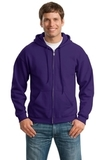 Full-zip Hooded Sweatshirt Purple Thumbnail