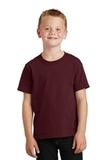 Youth 5.5-oz 100 Cotton T-shirt Athletic Maroon Thumbnail