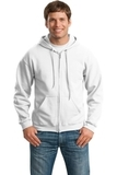 Full-zip Hooded Sweatshirt White Thumbnail