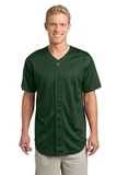 Posicharge Tough Mesh Full-button Jersey Forest Green Thumbnail