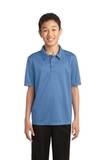 Youth Silk Touch Performance Polo Carolina Blue Thumbnail