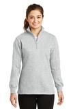 Women's 1/4-zip Sweatshirt Athletic Heather Thumbnail